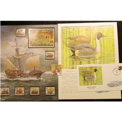 1989 Yugoslavia Sailing Ships Stamps; South Carolina Northern Pintail Stamped Cover; & a Ducks Unlim