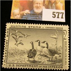 1958 RW25 Federal Migratory Bird Hunting $2 Stamp, unsigned, NG.