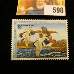 1987 RW 54 Federal Migratory Bird Hunting $10.00 Stamp, unsigned, original gum, NH, EF.