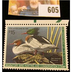 1994 RW 61 Federal Migratory Bird Hunting $15.00 Stamp, unsigned, original gum, NH, VF.