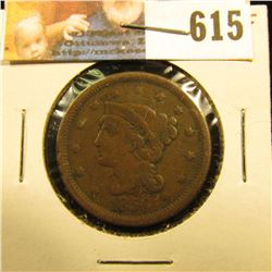 1856 U.S. Large Cent, VG-F.