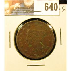 1843 U.S. Large Cent, VG.