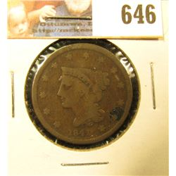 1841 U.S. Large Cent, VG.