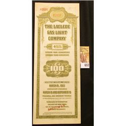 Red stamped  Specimen   The Laclede Gas Light Company 4 1/2  Fifteen Year Convertible Sinking Fund D