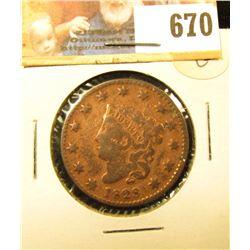 1828 U.S. Large Cent, Good.