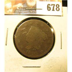 1820 U.S. Large Cent, Good.