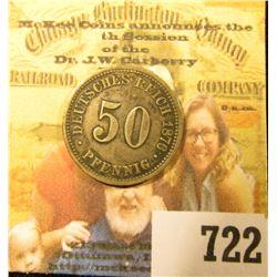 1876B Germany 50 Pfennig, Y13, EF.