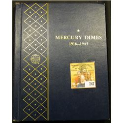 1916-45 Partial Set of Mercury Dimes in a Deluxe blue Whitman Album. All are higher grades with seve