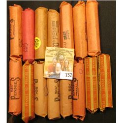 (15) Rolls of Lincoln Cents in paper wrappers, most appear to be  Wheat Back  Cents, I have never ch