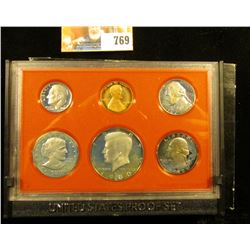 1980 S U.S. Proof Set in original holder. Includes Cent to Half Dollar.