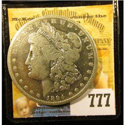 1894 S U.S. Morgan Silver Dollar, Fine.