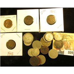 .75c Face Canada 80% Silver Coins; .20c face 50% Fine Silver Dimes; U.S. Silver Quarter, holed; (8)