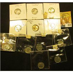 (5) 1955 P Gem BU Silver, 67 P AU, & (10) BU Clad Roosevelt Dimes