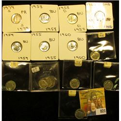 1955P, 58P, D, 59P, & 60P Gem BU Silver & (10) Clad Roosevelt Dimes. Includes some Proof & SMS speci