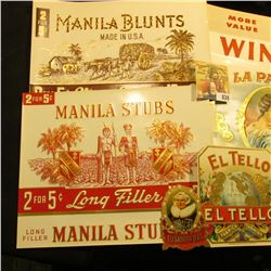 (10) Different Very Colorful 50-100 Year Old Cigar Box Labels.