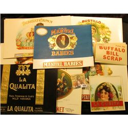 (10) Different Very Colorful 50-100 Year Old Cigar Box Labels. 'Doc' had some of this group priced a