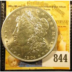 1904 O U.S. Morgan Silver Dollar. Brilliant Uncirculated.