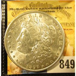 1897 P U.S. Morgan Silver Dollar. Brilliant Uncirculated.