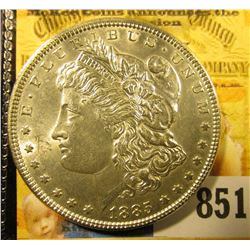 1885 P U.S. Morgan Silver Dollar. Brilliant Uncirculated.