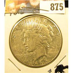 1926 S U.S. Peace Silver Dollar, AU.