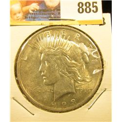 1923 P U.S. Peace Silver Dollar, Uncirculated.