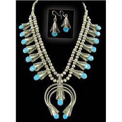 Navajo Necklace and Earrings - Louise Yazzie