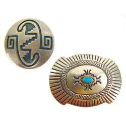 2 Silver Pins