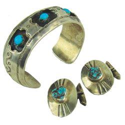 Navajo Bracelet & Cufflinks