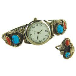 Navajo Watchband & Ring