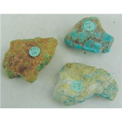 3 Raw Turquoise Nuggets