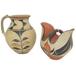 2 Santo Domingo Pottery Vessels