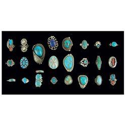 Box Lot of Navajo/Zuni Rings