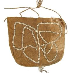Hide Bag with Disc Beads