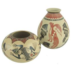 2 Mata Ortiz Pottery Vessels