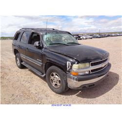 2002 - CHEVROLET TAHOE//SALVAGE TITLE
