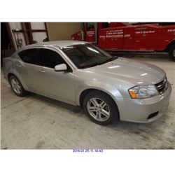 2011 - DODGE AVENGER//SALVAGE TITLE