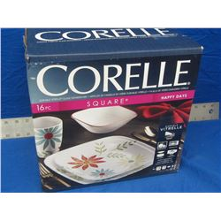 New Corelle 16piece square dinnerware
