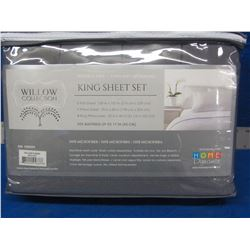 New Willow collection KING 6 piece sheet set