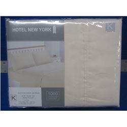 New KING hotel new york 4 pc. Sheet set