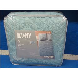 New VCNY 3PC KING Quilt set
