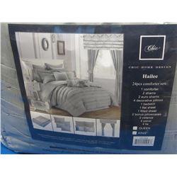 New Chic 24 PIECE KING comforter set