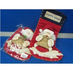 2 new Santa Stockings large