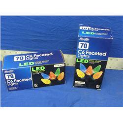 2 New c6 LED Christmas lights