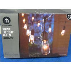 New Vintage bulb drop light set