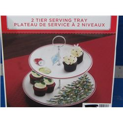 New 2 tier seving tray