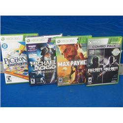 4 New  X-BOX 360 Games / call of duty / Max Payne /