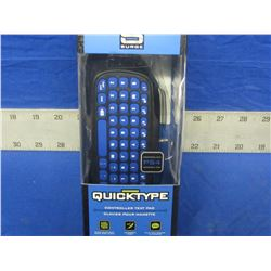 New Quick type controller keyboard.