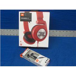 New JBL Headphones 1 over ear pair and 1 ear buds
