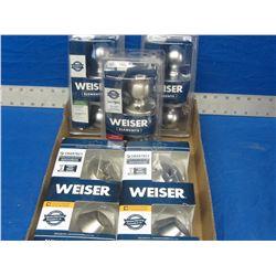 Lot of 5 New Weiser smart key products / 2 deadbolts / 3 door knobs 1 locking