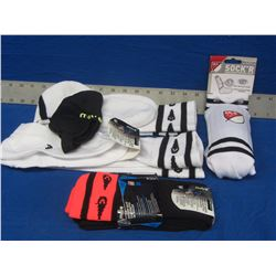 Lot of 4 New soccer socks/ 1 ankle guard /